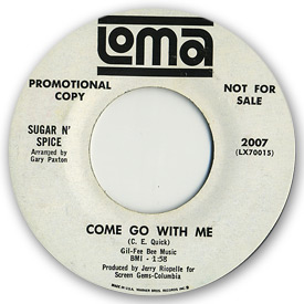 Sugar n' Spice - Come go with me on Loma Records