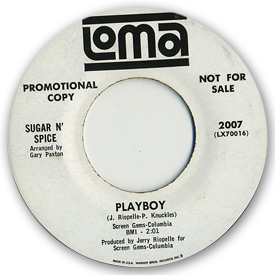 45 rpm vinyl record label scan of Loma 2007 - Sugar n' Spice - Playboy.
