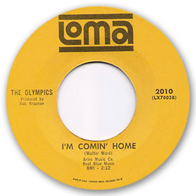 The Olympics - I'm comin' home - on Loma Records