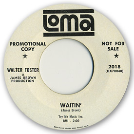 Walter Foster - Waitin' - on Loma Records