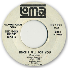 Loma records. Label scans of rare Loma 45 rpm vinyl records. Northern soul, label scans, Loma 2021, Dick Jensen & the Imports - Since I fell for you