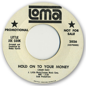 Loma records. Label scans of rare Loma 45 rpm vinyl records. Loma 2026: Little Joe Cook - Hold on to your money