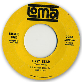 Loma records. Label scans of rare Loma 45 rpm vinyl records. Loma 2033 Frankie Love First star
