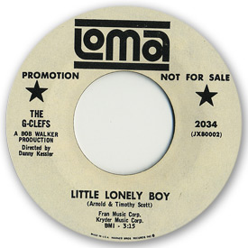 Loma records. Label scans of rare Loma 45 rpm vinyl records. Loma 2034 The G-Clefs Little lonely boy