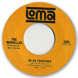 Loma records. Label scans of rare Loma 45 rpm vinyl records. Loma 2045 The Marvellos - We go together