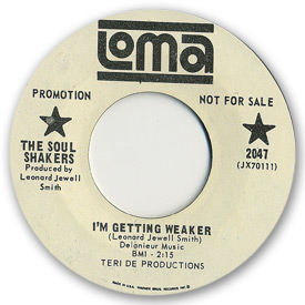 Loma records. Label scans of rare Loma 45 rpm vinyl records.   Loma 2047: The Soul Shakers - I'm getting weaker