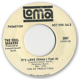 Loma records. Label scans of rare Loma 45 rpm vinyl records.   Loma 2047 - The Soul Shakers - It's love (cause I feel it)