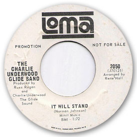 Loma records. Label scans of rare Loma 45 rpm vinyl records.   Loma 2050: Charlie Underwood Glide Band - It will stand