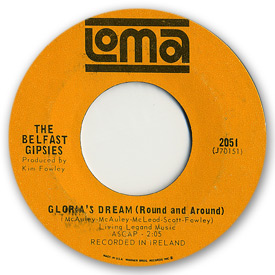 Loma records. Label scans of rare Loma 45 rpm vinyl records.   Loma 2051 - The Belfast Gipsies - Gloria's dream (Round and Around)
