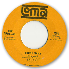 Loma records. Label scans of rare Loma 45 rpm vinyl records. Loma 2053 The Apollas - Sorry mama