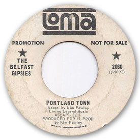 Loma records. Label scans of rare Loma 45 rpm vinyl records. Loma 2060: The Belfast Gipsies - Portland town