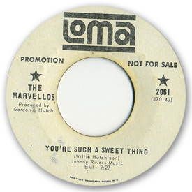 Loma records. Label scans of rare Loma 45 rpm vinyl records. Loma 2061 The Marvellos - You're such a sweet thing