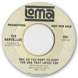 Loma records. Label scans of rare Loma 45 rpm vinyl records.   Loma 2061 - The Marvellos Why do you want to hurt the one that loves you