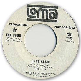 45 rpm vinyl record label scan of Loma 2062 - The Poor - Once again