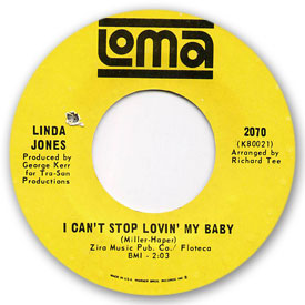 Loma records. Label scans of rare Loma 45 rpm vinyl records.   Loma record label scan. Loma 2070: Linda Jones - I can't stop lovin' my baby