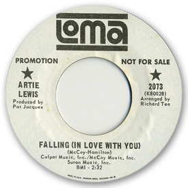 Loma records. Label scans of rare Loma 45 rpm vinyl records.   Loma 2073: Artie Lewis - Falling (In love with you)