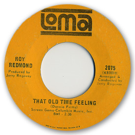 Loma records. Label scans of rare Loma 45 rpm vinyl records. Loma 2075: Roy Redmond - That old time feeling