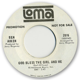 Loma records. Label scans of rare Loma 45 rpm vinyl records. Loma 2076 - Ben Aiken - God bless the girl and me