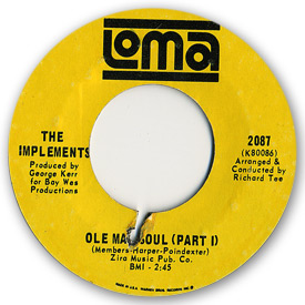 Loma records. Label scans of rare Loma 45 rpm vinyl records. Loma 2087: The Implements - Ole man soul (Part 1)