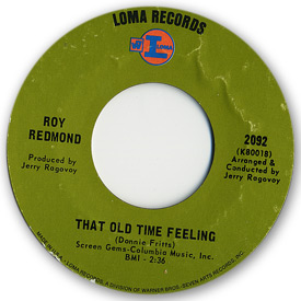 Loma records. Label scans of rare Loma 45 rpm vinyl records.   Loma 2092 - Roy Redmond - That old time feeling