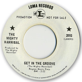 Loma records. Label scans of rare Loma 45 rpm vinyl records. Loma 2093: The Mighty Hannibal - Get in the groove