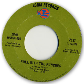 Loma records. Label scans of rare Loma 45 rpm vinyl records.Loma record label scans of Loma 2097 Lonnie Youngblood - Roll with the punches / Tomorrow