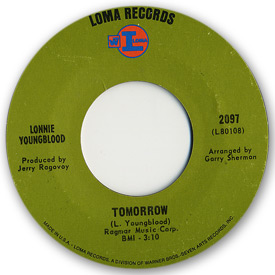 Loma records. Label scans of rare Loma 45 rpm vinyl records. Loma 2097: Lonnie Youngblood - Tomorrow
