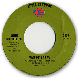 Loma records. Label scans of rare Loma 45 rpm vinyl records. Label scan. Loma 2106: John Wonderling - Man of straw