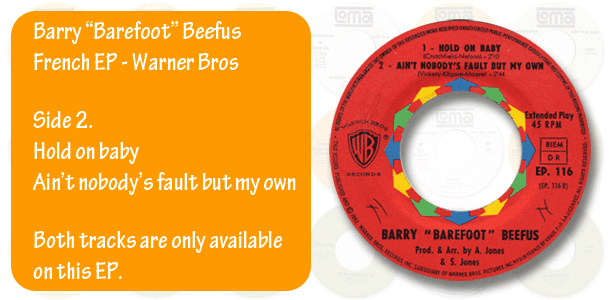 Barry Barefoot Beefus French EP, side 2