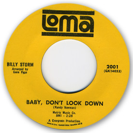 Billy Storm - Baby don't look down on Loma Records
