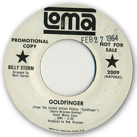 Billy Storm - Goldfinger on Loma Records