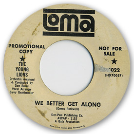 Loma records. Label scans of rare Loma 45 rpm vinyl records.Loma 2022: The Young Lions - We better get along