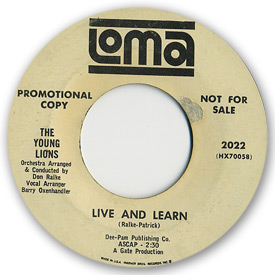 Loma records. Label scans of rare Loma 45 rpm vinyl records. Loma 2022: The Young Lions - Live and learn