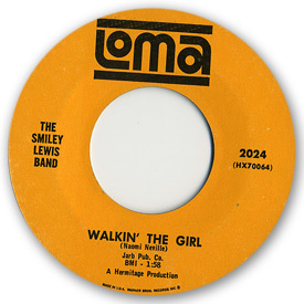 Loma records. Label scans of rare Loma 45 rpm vinyl records. Loma 2024: The Smiley Lewis Band - Walkin' the girl