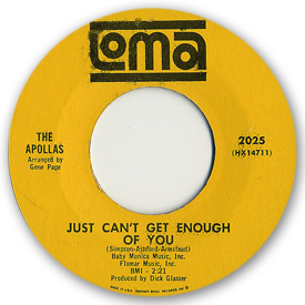 Loma records. Label scans of rare Loma 45 rpm vinyl records. Loma 2025: The Apollas - Just can't get enough of you