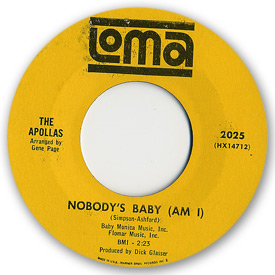 Loma records. Label scans of rare Loma 45 rpm vinyl records.   Loma 2025: The Apollas - Nobody's baby am I