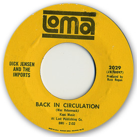 Loma records. Label scans of rare Loma 45 rpm vinyl records. Loma 2029: Dick Jensen and the Imports - Back in circulation