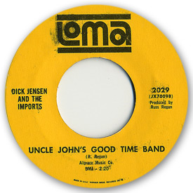Loma records. Label scans of rare Loma 45 rpm vinyl records. Loma 2029 - Dick Jensen & the Imports - Uncle John's good time band