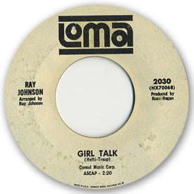 Loma records. Label scans of rare Loma 45 rpm vinyl records. Loma 2030 - Ray Johnson - Girl talk