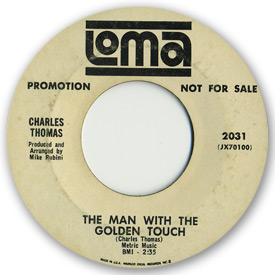 Loma records. Label scans of rare Loma 45 rpm vinyl records. Loma 2031 Charles Thomas - The man with the golden touch