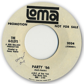 Loma records. Label scans of rare Loma 45 rpm vinyl records. Loma 2034 - The G-Clefs - Party '66