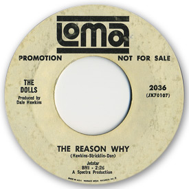 Loma records. Label scans of rare Loma 45 rpm vinyl records. Loma 2036 - The Dolls - The reason why