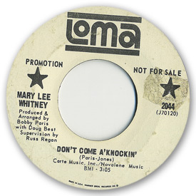 Loma records. Label scans of rare Loma 45 rpm vinyl records.   Loma 2044: Mary Lee Whitney - Don't come a'knockin'