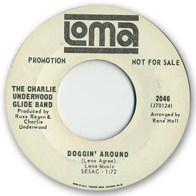 Loma records. Label scans of rare Loma 45 rpm vinyl records.   Loma record label scans. Loma 2046: Charlie Underwood Glide Band - Doggin' around