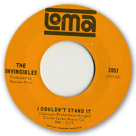Loma records. Label scans of rare Loma 45 rpm vinyl records. Loma 2057: The Invincibles - I couldn't stand it