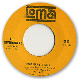 Loma records. Label scans of rare Loma 45 rpm vinyl records.   Loma 2057: The Invincibles - How many times