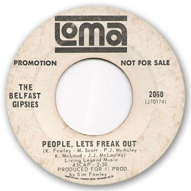 Loma records. Label scans of rare Loma 45 rpm vinyl records.   Loma 2060: The Belfast Gipsies - People, let's freak out