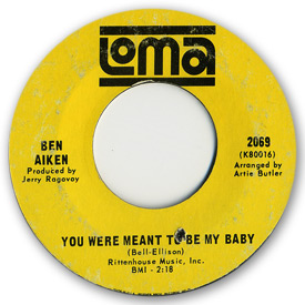 Loma records. Label scans of rare Loma 45 rpm vinyl records.   Northern soul. Loma 2069 Ben Aiken - You were meant to be my baby