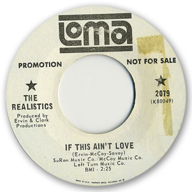 Loma records. Label scans of rare Loma 45 rpm vinyl records.   Loma 2079: The Realistics - If this ain't love