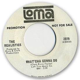 Loma records. Label scans of rare Loma 45 rpm vinyl records.   Loma 2079: The Realistics - What'cha gonna do